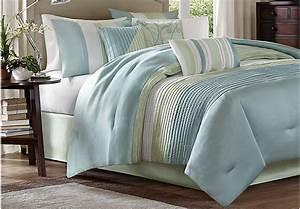Brenna Blue Green 7 Pc Queen Comforter Set - Queen Linens