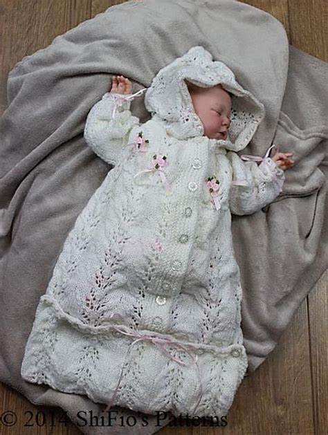 Knitted Baby Sleeping Bag Pattern #151 Knitting Pattern By