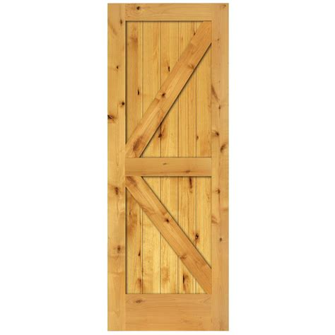 home hardware doors interior steves sons 36 in x 84 in rustic 2 panel stained knotty alder interior barn door slab with
