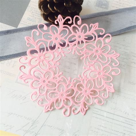 hamyho noble lace flower frame border metal cutting dies