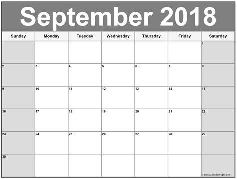 september  calendar  calendar templates