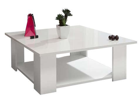 Table Basse Carrée Kimilake Coloris Blanc Chez Conforama