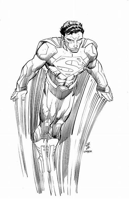 Superman Romita Jr John Sketch Dc Marvel