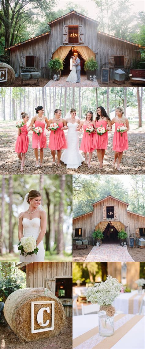 southern elegant barn wedding rustic wedding chic