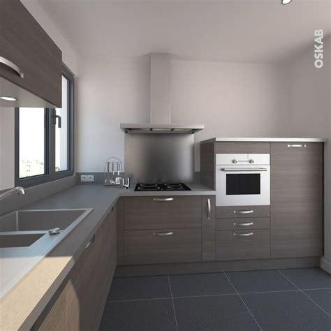 cuisine en bois h黎re idée relooking cuisine cuisine ultra design combinant des meubles en bois foncé et un plan de travail listspirit com leading