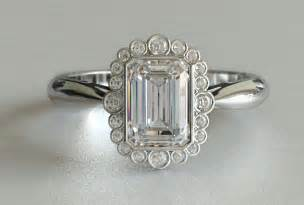 vintage emerald cut engagement rings ring settings ring settings for emerald cut stones
