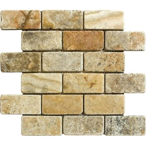Scabos Travertine Subway Tile by 2 X 4 Scabos Travertine Tumbled Mosaic Tile Deko Tile