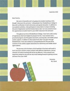 sample intro letter to parents student teaching With parent letter from teacher template