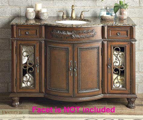 52 inch sink vanity 52 quot brown vanity bathroom granite top ceramic single sink