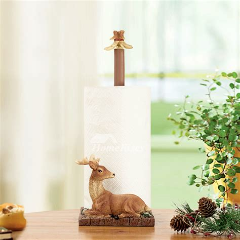 unique decorative  standing deer toilet paper holder