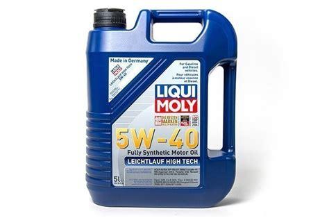 liqui moly 5w40 liqui moly leichtlauf high tech 5w40 engine 5 liter