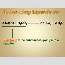 Balancing Equations #1