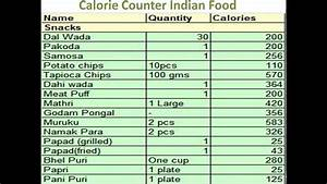 Carbohydrate Counting Chart Calorie Counter Indian Food Calorie Counter For Indian