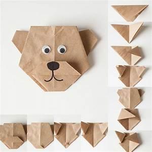Origami Für Anfänger : anleitung wie origami b r aus papier falten origami ~ A.2002-acura-tl-radio.info Haus und Dekorationen