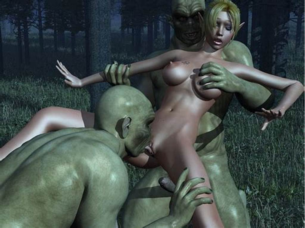 #Busty #Elf #Gets #Licked #And #Slammed #In #Threesome #With #Goblins
