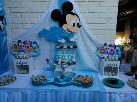 baby mickey mouse baby shower decorations mickey bebe baby shower in 2019 mickey baby showers