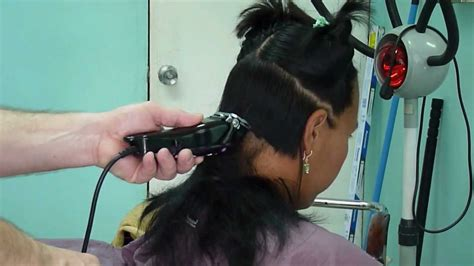 nape long hair buzz cut youtube