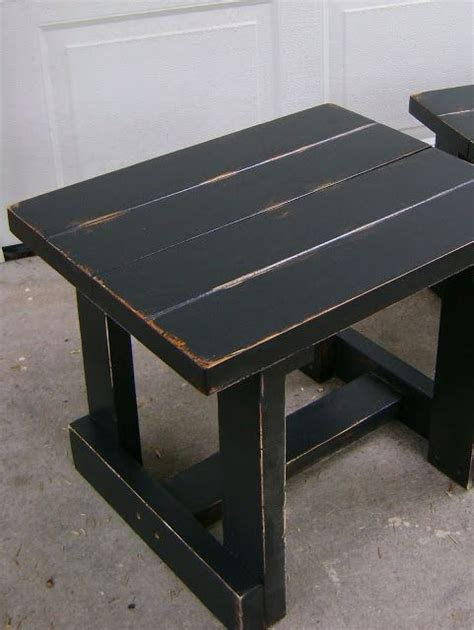 distressed black end tables 1000 ideas about distressed end tables on end 6778