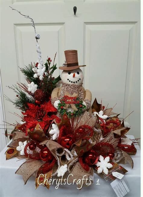 Snowman Table Decorations - centerpiece snowman centerpiece winter