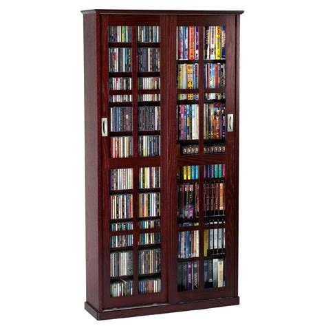 leslie dame multimedia storage cabinet cherry ms