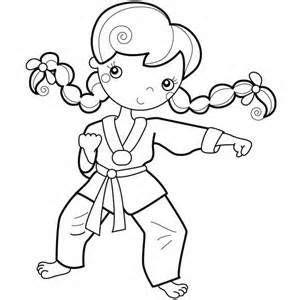 karate kid young girl karate kid coloring page kid
