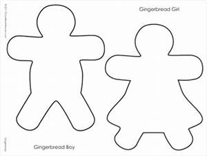Gingerbread Boy Outline | Search Results | Calendar 2015