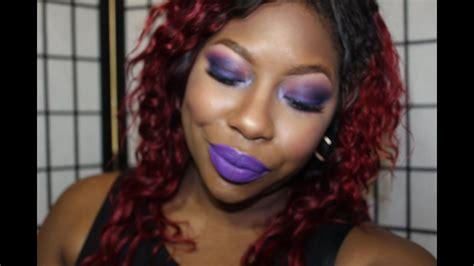 purple overload makeup tutorial ft pretty zombie