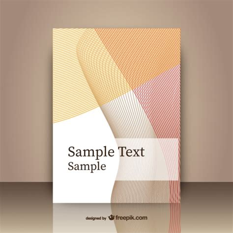 Cover Pages Designs Templates Free by Abstract Cover Template Vector Free