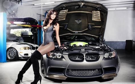 bmw tune girl  hd desktop wallpaper   ultra hd tv