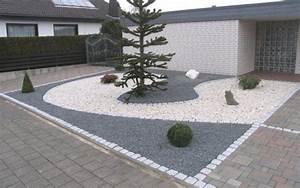 Weiße Steine Garten : vorgarten gestalten pflegeleicht modern ~ Lizthompson.info Haus und Dekorationen