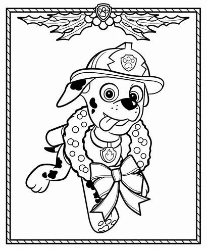 Paw Patrol Coloring Christmas Pages