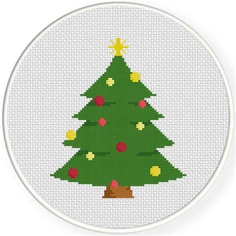 christmas tree cross stitch pattern daily cross stitch