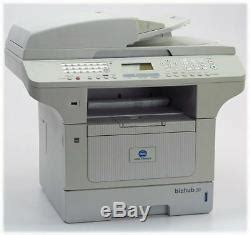 Find everything from driver to manuals of all of our bizhub or accurio products. Konica Minolta Bizhub 20 Tout-en-un Fax Kopierer Scanner Drucker B-ware