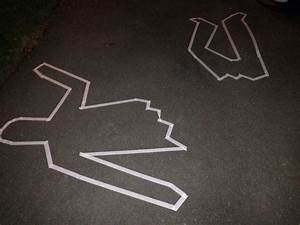 Dead body outline. Simple and effective. Just use masking ...