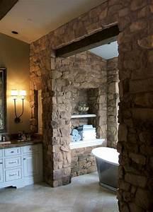 Wandgestaltung Mit Steinen : 110 super originelle badezimmer ideen ~ Markanthonyermac.com Haus und Dekorationen