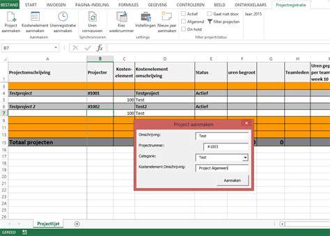foto de Voorbeeld urenregistratie in Excel