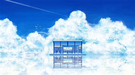 Anime Sky Wallpaper - anime artwork clouds sky wallpapers hd