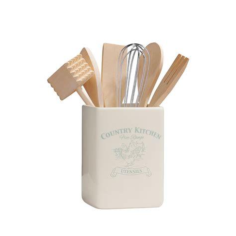 country kitchen utensils premier housewares country kitchen utensil holder with 2920