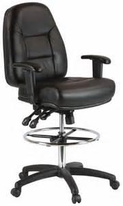 harwick ergonomic premium leather drafting chair 100kl