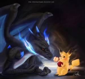 Mega Charizard x Pikachu by hibridopollogato on DeviantArt