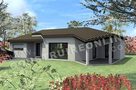 modele de maison plain pied moderne plan de maison moderne medley