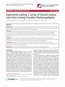 Pdf  Expectantly Waiting  A Survey Of Thyroid Surgery