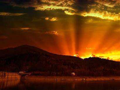 Sunrise Wallpapers Mountains Behind Wide 1600 1200