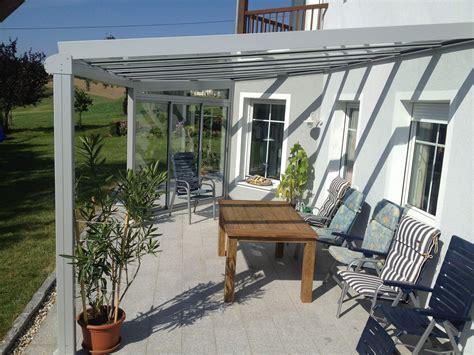 Terrassenüberdachung Mit Schiebeelemente by Terrassen 252 Berdachung Alu Glas Mit Seitenteil