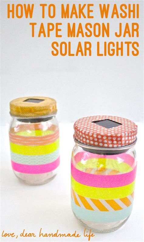 how to make washi jar solar lights dear