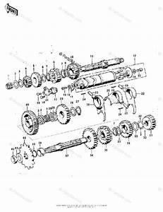Kawasaki Motorcycle 1973 Oem Parts Diagram For