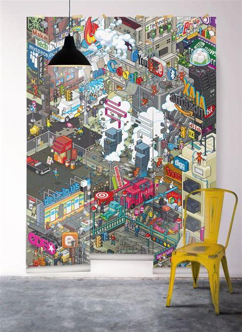 papier peint york pour chambre chambre ado fille garçon york londres rock côté