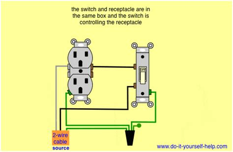 Wiring A Switched Outlet by Wiring Diagrams Box Do It Yourself Help