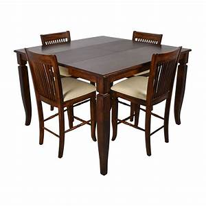 75 off tall extendable dining room table set tables for Extendable dining table set