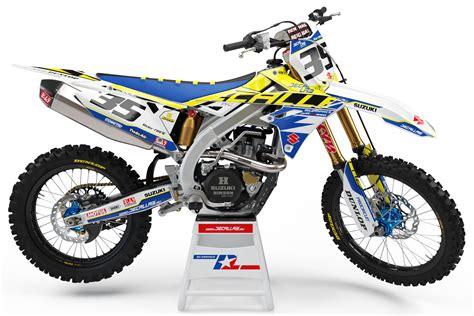 suzuki graphics kit pkz white  custom rider id